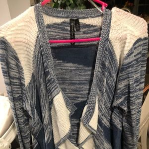 Allie & Rob Blue & White Cardigan Sweater